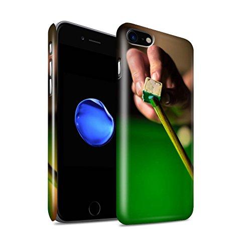 STUFF4 Glanz Snap-On Hülle / Case für Apple iPhone 8 / Rote Kugel/Rack Muster / Snooker Kollektion Kreide/Queue