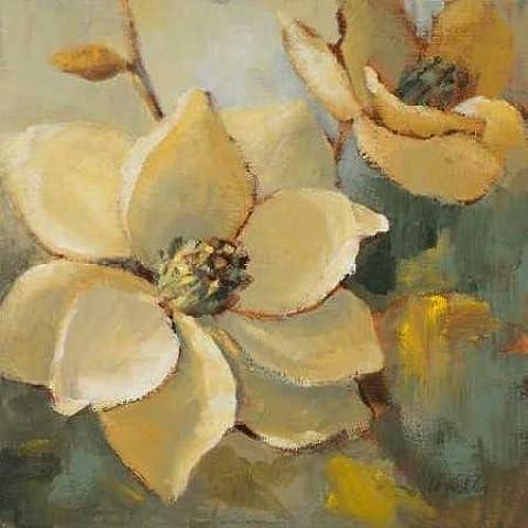 Impresión de Arte Fino en lienzo : Magnolias After the Rain I by Loreth, Lanie - pequeña (56 x 56