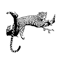 Ogquaton Wall Stickers Black Leopard Tree Sticker Bedroom Living Room Removable Wall Stickers Fridge Home Decor Convenient and Practical
