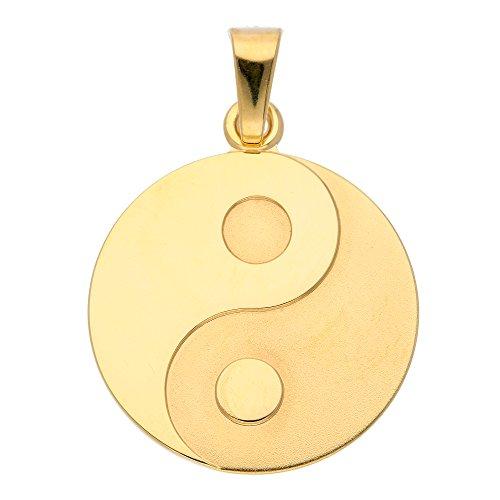 Gold Anhänger Ying Yang 8 k 333 Gelbgold