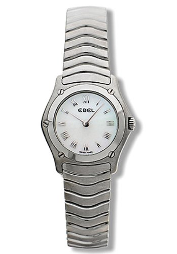 Ebel Classic Wave White Mother-of-Pearl Dial Stainless Steel Ladies Watch 9157F11-9225