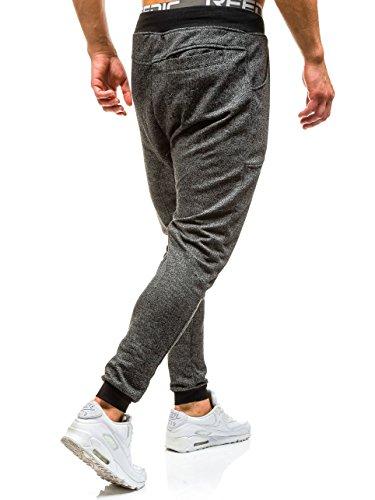 BOLF – Pantalons de sport – Jogging pantalons – Homme Noir