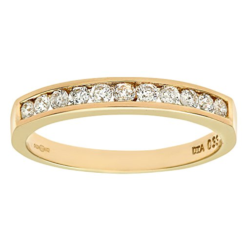 Naava Women's 9 ct Yellow Gold Third Carat Diamond Channel Set Eternity Ring
