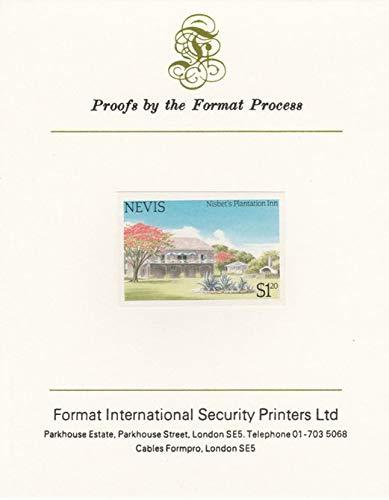 Nevis 1985 Tourism (2nd series) $1.20 (Nisbet's Plantation Inn) imperf proof mounted on Format International proof card as SG 247 TOURISM JandRStamps - Plantation Inn