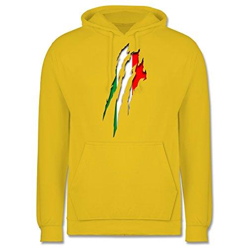 Länder - Italien Krallenspuren - Männer Premium Kapuzenpullover / Hoodie  Gelb