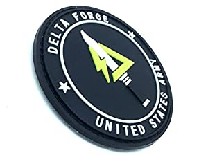 Delta Force United States Army PVC Airsoft Velcro Patch