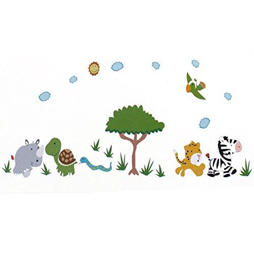 Preisvergleich Produktbild Zeichentrick Tier Aufdruck Entfernbar Wandtattoo Aufkleber DIY Wandpapier Deko