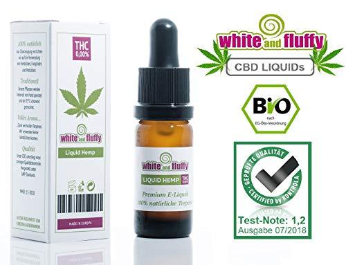 White and Fluffy® 500mg CBD PREMIUM Liquid • Test-Note 1,2 • PG VG 10ml Terpene nikotinfrei aus eigener Hanf & Canabis Plantage aus Amsterdam