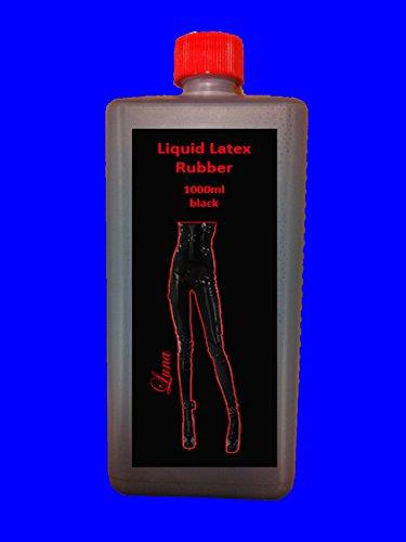 Flüssiglatex 1 Liter LATEX Schwarz Rubber Latexmilch Naturgummi flüssig Gummi Gummimilch Latexbekleidung selbst herstellen - Bild 1
