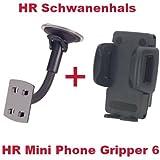 HR Richter Handy Smartphone KFZ Auto Halter Halterung Mini Phone Gripper und Schwanenhals Halter für Bestore Star Note 5 Z6 FANTEC Boogy Limbo Homtom HT10 HT17