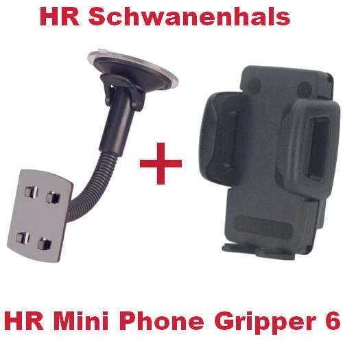 HR Richter Universal Handy Smartphone PDA KFZ Halter Halterung Mini Phone Gripper 6 1245/46 und Schwanenhals für Nokia E-75 Lumnia 710 Lumnia 800 N73 N-73 N76 N-76 N77 N-77 N78 N-78 N78 Smartphone
