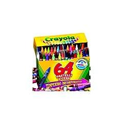 Idea Regalo - Crayola - 64 Pastelli a Cera, Modelli/Colori Assortiti, 1 Pezzo