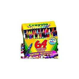 Crayola – 64 Pastelli a Cera, Modelli/Colori Assortiti, 1 Pezzo