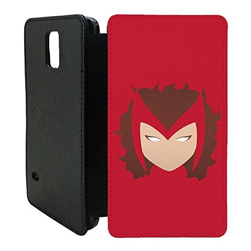 DC MARVEL-Superhelden Comics Minimal Flip Tasche Geldbörse für Samsung Galaxy S6 no.23 - Scarlet Hexe - G1080