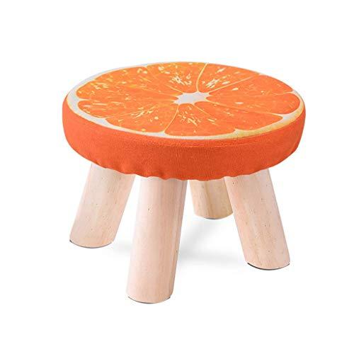 Eeayyygch sgabello moda in legno massello sgabello, sgabello quadrato in tessuto divano sgabello sedia sgabello sgabello da cucina per uso domestico piccola panca 28 * 20cm (colore: a) (colore : a)