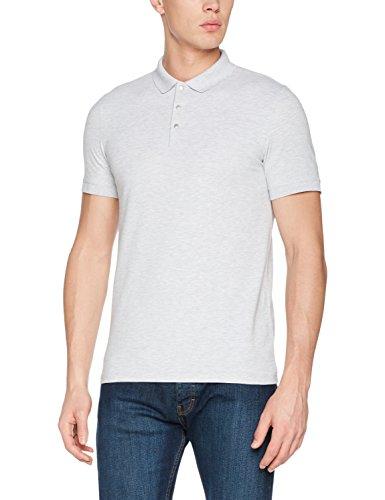SELECTED HOMME Herren Poloshirt Shddamon Melange Ss Polo Noos Grau (Gray Violet)