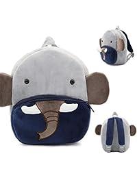 Preisvergleich für Quner Kinderrucksack Kindergarten, Lässig Mini Backpack,Tiere Cartoon Elefant Muster Kindergartentasche Waschbar...