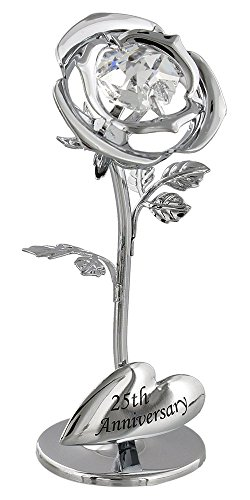 25th-anniversary-silver-plated-flower-with-clear-swarovski-crystal-glass-by-haysom-interiors