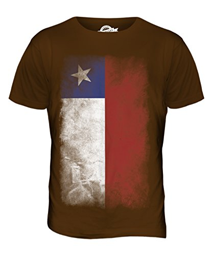 CandyMix Chile Verblichen Flagge Herren T Shirt Braun