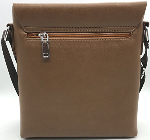 Eagle , Herren Schultertasche Black Leather-008 M Dark Brown - 311