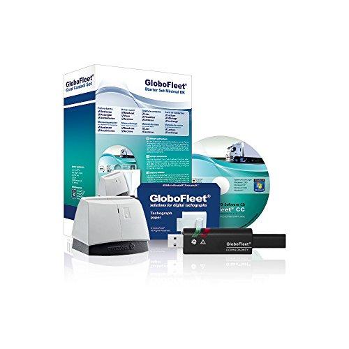 GloboFleet Starter Set Minimal DK für selbstfahrende Unternehmen zum auslesen und archivieren der Fahrerkarte mit Chipkartenleser und Downloadkey