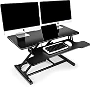 PATIOSNAP Standing Desk Converter - Standing Desk Height Adjustable to Stand Up, Tabletop Sit Stand Desk Fits