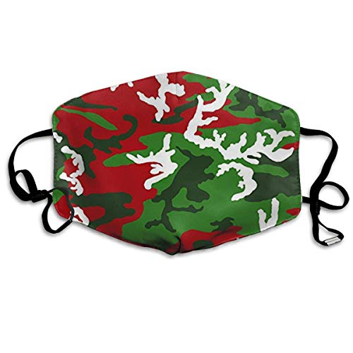 Mundmaske, Staubmasken Christmas Woodland Camo Dust Mask,Washable and Reusable Cleaning Gardening Mask,for Allergens, Exhaust Gas,Running,Cycling,Outdoor Activities Windproof Mask -