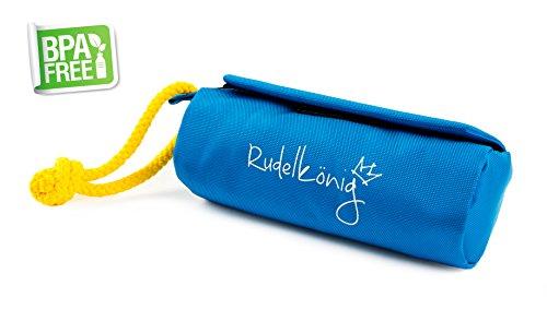 Rudelkönig Futterbeutel für Hunde - Preydummy - Leckerlie Beutel blau - Hochwertiger Futterdummy - Intelligentes Hundespielzeug - Apportierbeutel- Ideal für Trockenfutter & Nassfutter - GRATIS E-Book