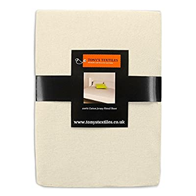 Tony's Textiles Jersey 100% Cotton Fitted Sheet Cream produced by Tony's Textiles - quick delivery from UK.