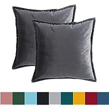 Suchergebnis Auf Amazonde Für Kissenbezug Samt 40x40 Grau