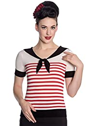 Hell Bunny T-Shirt Top en Trictot Tricoter - Coco Rouge