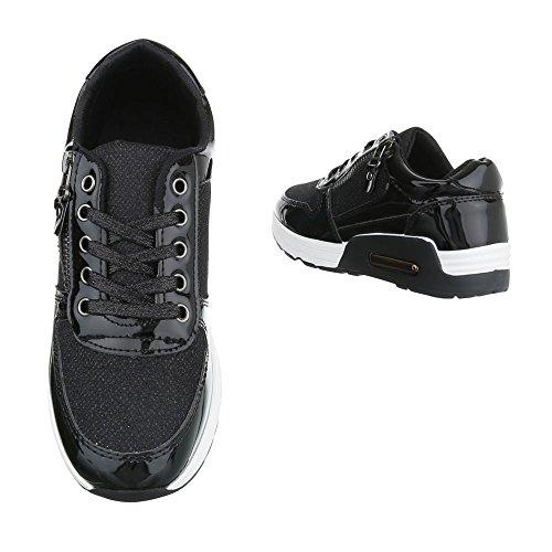 9d644ebf707d56 ... Damen Freizeitschuhe Schuhe Sportschuhe Turnschuhe Sneaker Laufschuhe  Schwarz Pink Weiß 36 37 38 39 40 41 ...