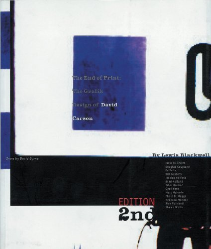 The End of Print: The Grafik Design of David Carson by Lewis Blackwell (2012-06-20) Buch-Cover