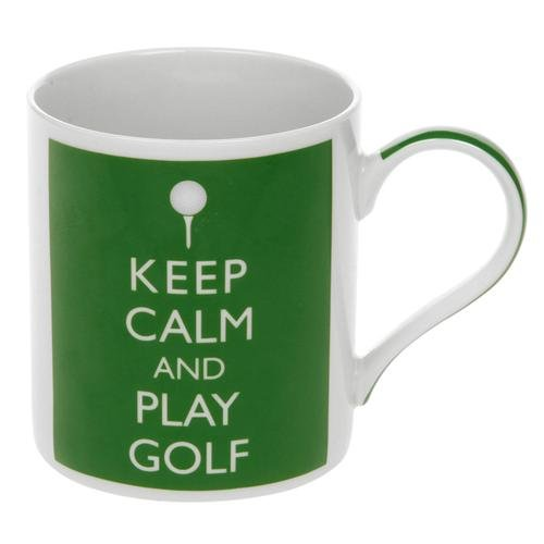 Lesser & Pavey - Tasse Mug - 'Keep Calm And Play Golf Mug' - Boite Cadeau