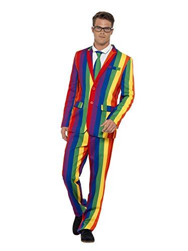 Smiffys 27560XL - Over The Rainbow Anzug mit Jacke Hosen und Krawatte, ()