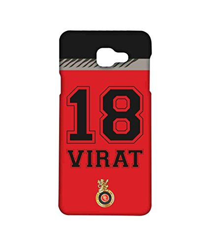 Macmerise Licensed Royal Challengers Bangalore Virat Kohli Premium Printed Back cover Case for Samsung A5 (2016)
