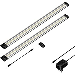 parlat LED Unterbau-Leuchte SIRIS, flach, je 50cm, 400lm, warm-weiß, 2er Set