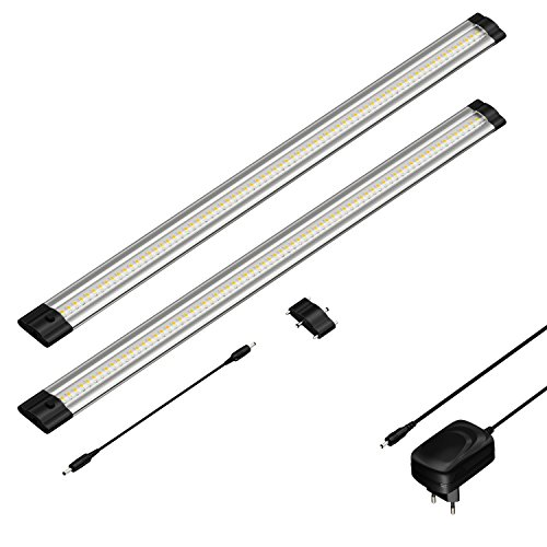 parlat LED Unterbau-Leuchte SIRIS, flach, je 50cm, 500lm, warm-weiß, 2er Set - 50-serie Leuchten