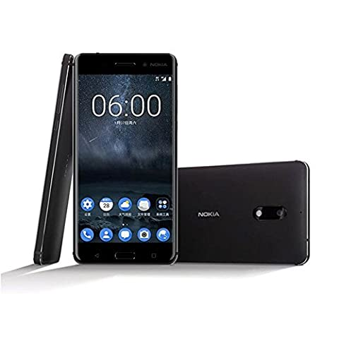 Nokia 6 Smartphone (13,97 cm (5,5 Zoll) Full-HD-Display, 32 GB, Android Nougat) Schwarz