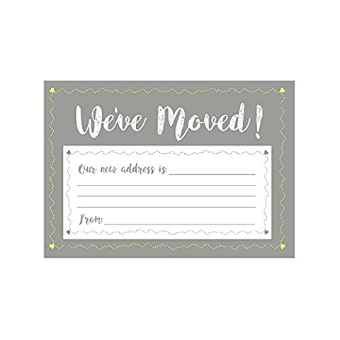 Change Of Address Cards. We Have Moved Cards. A6 Single Sided. Envelopes Included. Packs Of 10 20 & 30 (Pack