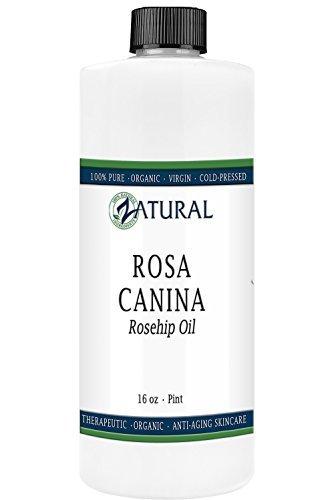 Naked Supplements ROSA CANINA - huile de Rose musquée bio pour visage, ongles, cheveux et peau - Cold Pressed huile de Rose musquée (16 oz)