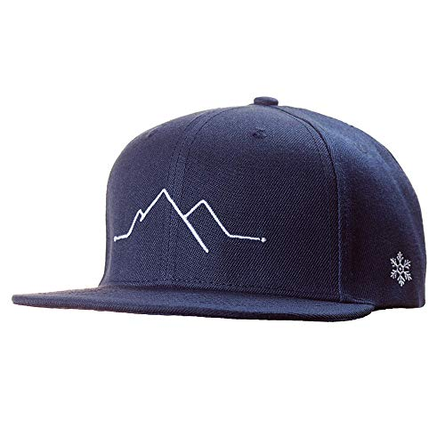 Snapback Caps Herren & Damen - Cap in blau weiß - Berge, Mountain- Schwarzwald Cap - Einheitsgröße, one size - Cap mit Stick