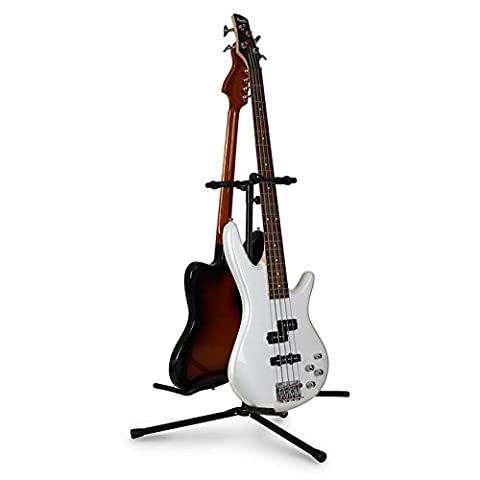 auna Duet 2-Way Guitar Stand for 2 Guitars - Powder Coated