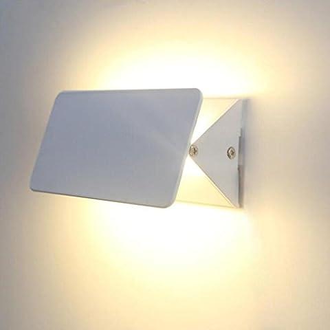 MULANG Modern Minimalist Creative Personality Flip Aluminum LED Wall Lamp Living Room Bedroom Porch Lighting Night Lights , A