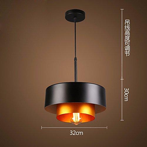 Vent léger rétro industriel Loft art fer American restaurant bar tête simple suspension,C