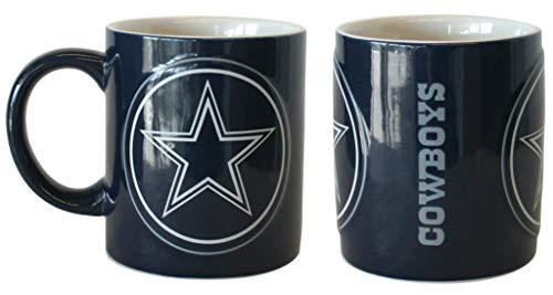 Boelter Dallas Cowboys Kaffeebecher, Keramik, ca. 400 ml, 2 Stück (Dallas Cowboys Keramik)