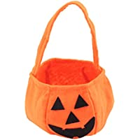 Bolsa de Calabaza de Caramelos Portátil de Niños Decoración de Disfraz para Halloween, Carnaval, Navidad (20*13*13 CM)
