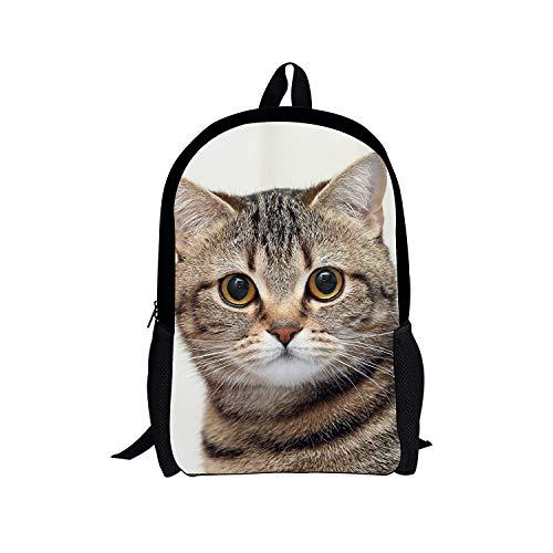 16in Satchel (Tier Schultasche für Jungen Mädchen angepasst Rucksack 16 Zoll Satchel 3D (Color : Style 4, Size : -))