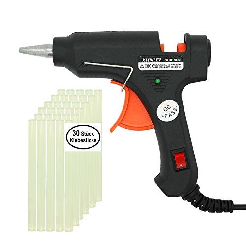 Heißklebepistole, 20W Klebepistole mit 30 7mm Klebesticks für Bastler, DIY Kunst, Karton, Handwerkprojekte, Kleine Reparatur