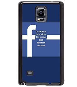 PRINTVISA Quotes Facebook Case Cover for Samsung Galaxy Note 4